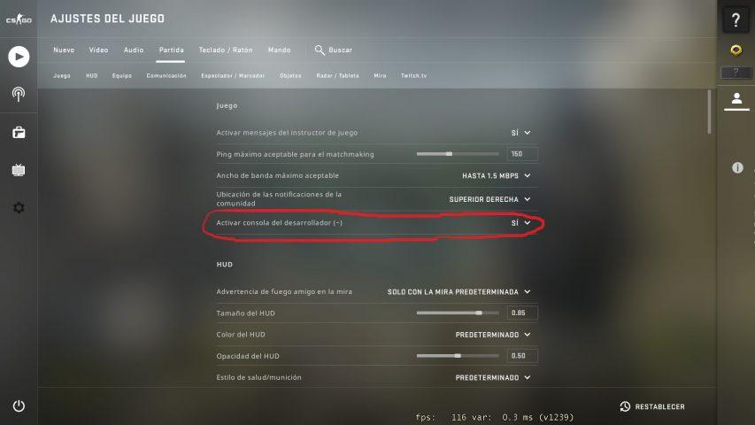activar consola de desarrollador